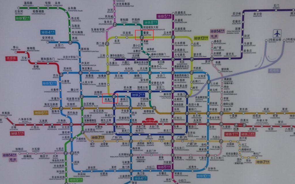 北京市内の路線図