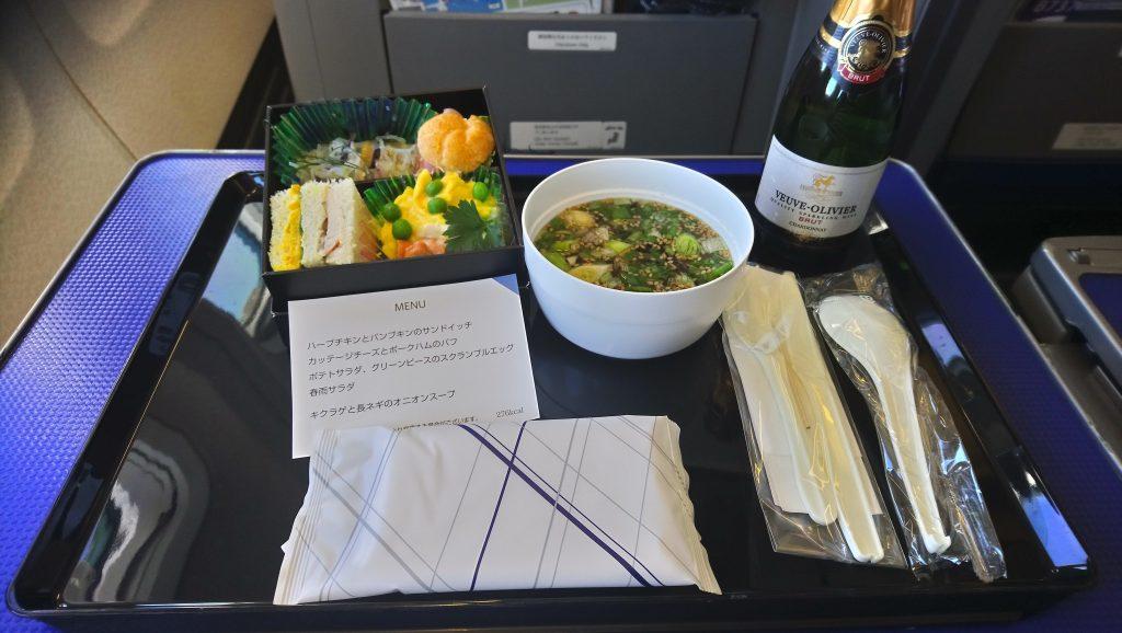 【機内食】全日空(ANA) ANA321 東京(羽田)→富山 プレミアムクラス