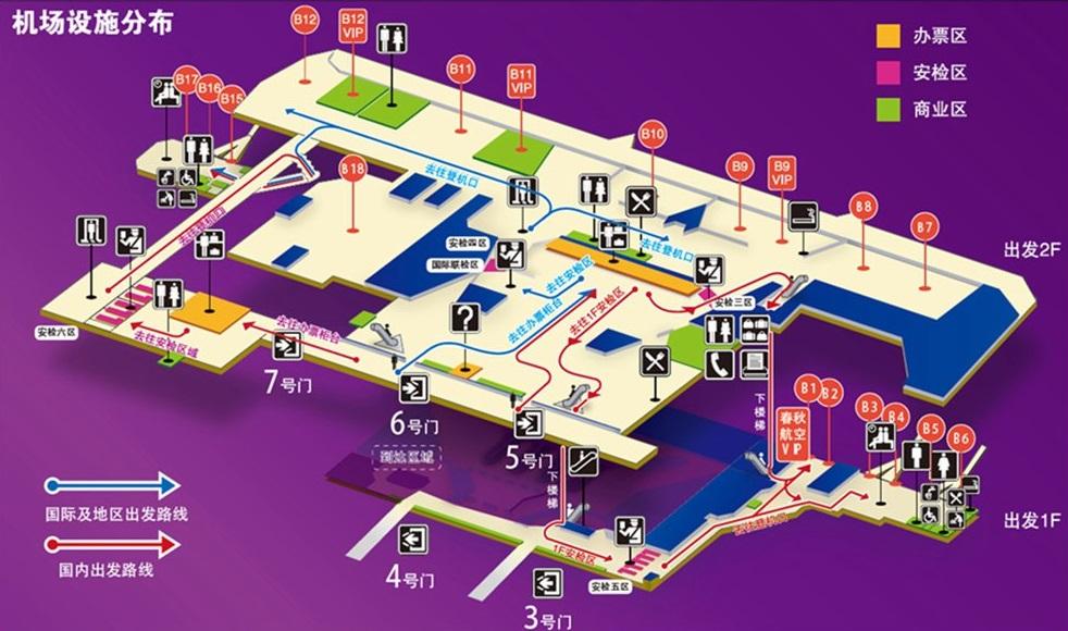 第1ターミナルの見取り図