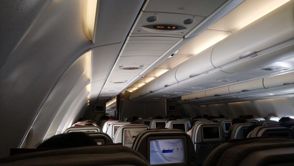 Airbus A330-300のエコノミークラスの座席